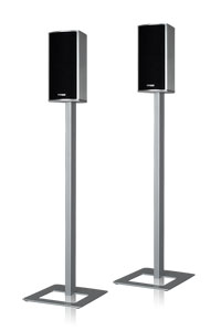 - Piega TMicro stand 4, alu silver (speakers not included)