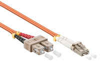 Otical network cable, LC-SC OM2