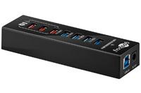 Goobay USB 3.0 hub, 4+3 port