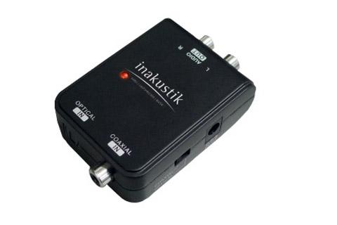 Kvalitets DAC fra In-akustik til forbindelse af f.eks. optisk TV lyd til stereo anlæget.