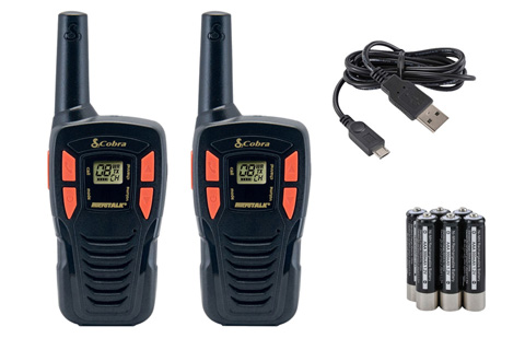 16-107 Cobra MicroTalk AM245 Walkie Talkie