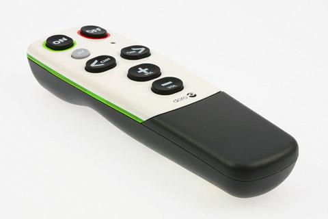 Universal fjernbetjening til simpel brug af TV eller lign., f.eks. til seniorer/pensionister eller børn.