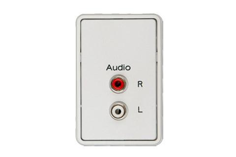 AV vægdåse til FUGA stereo Phono RCA