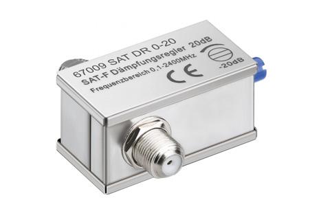 Variabelt dæmpeled til brug ved overstyrede antennesignaler, dvs. signaler der er for kraftige.