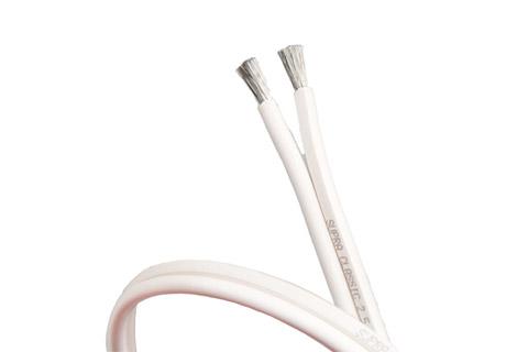 Supra Classic Speaker cable, white