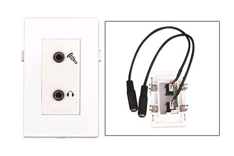 WP-1002, Dobbelt Minijack vægdåse med ledning