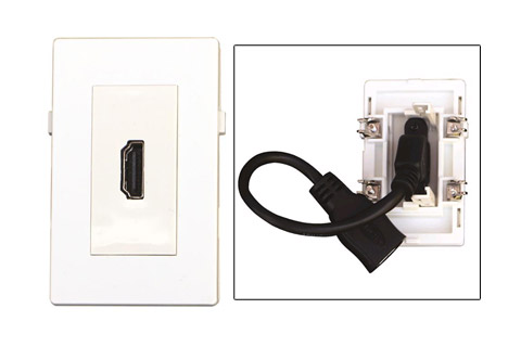 WP-1006, HDMI Vægdåse, 45 grader