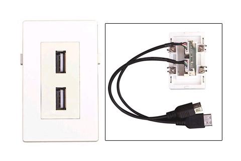 WP-1007, Dobbelt USB vægdåse