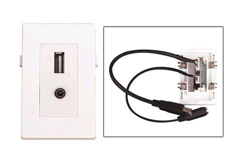 WP-1008, USB og Minijack vægdåse