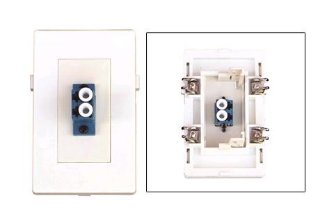 WP-1011, 2 x LC Fiber vægdåse