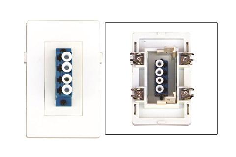 WP-1012-W, 4 x LC Fiber vægdåse