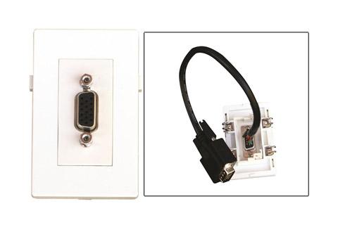 WP-1015-W, VGA vægdåse (hun - han)