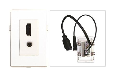 WP-1017, HDMI og Minijack vægdåse