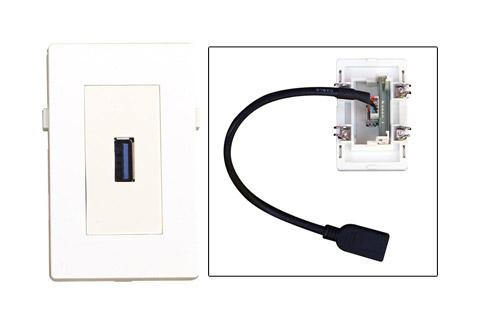 WP-1019, USB A 3.0 vægdåse