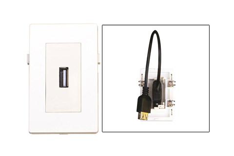 WP-1020, USB A 2.0 vægdåse