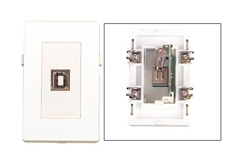 WP-1021, USB B Vægdåse
