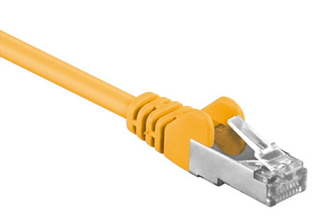 Network cable, Cat 5e F-UTP, Yellow