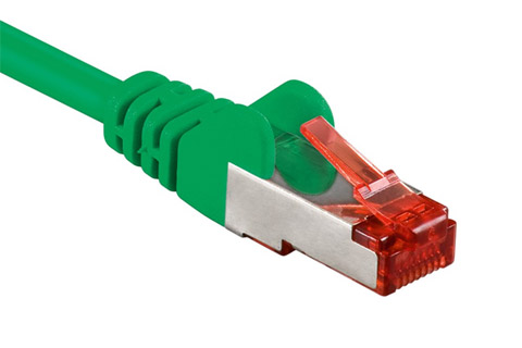 Network cable, Cat 6 S/FTP, green