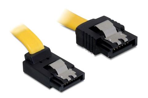 SATA 600 kabel med vinklet stik
