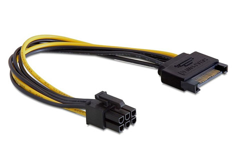SATA power to 6 pin PCIe