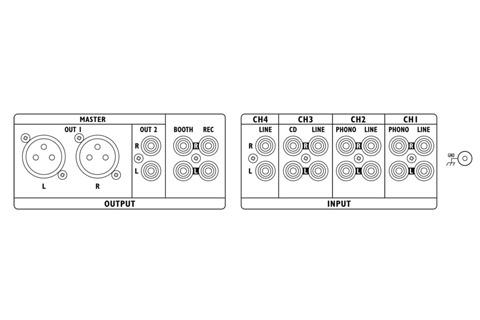 Stageline Mpx 410dmp Mixer Med Mp3 Afspiller Og Blutetooth