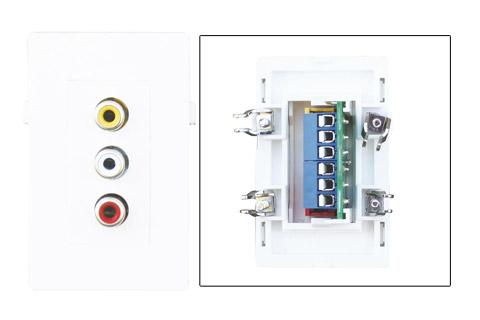 Composite stereo vægdåse