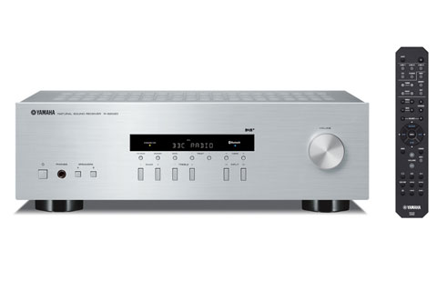 Yamaha R-S202D stereo receiver, silver