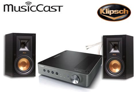 Yamaha WXA-50 MusicCast and Klipsch R15M speakers