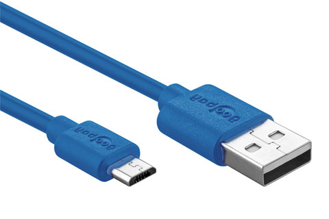 High Speed Micro USB lade og sync kabel, blå