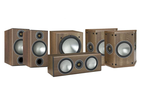 - Monitor Audio Bronze 5.1 package (Bronze 2 front), walnut