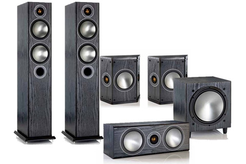 Monitor Audio Bronze 5.1 package (Bronze 5 front), black ash