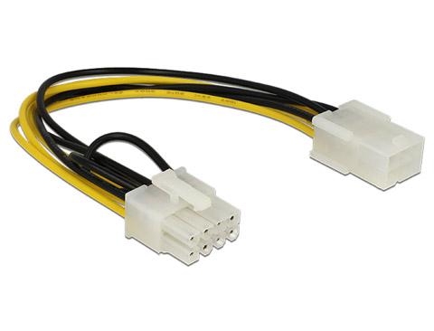 Strømkabel PCI Express 6 pin hun til 8 pin han