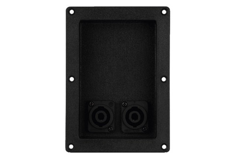 speakerterminal medl 2x Speakon inputs, elongated