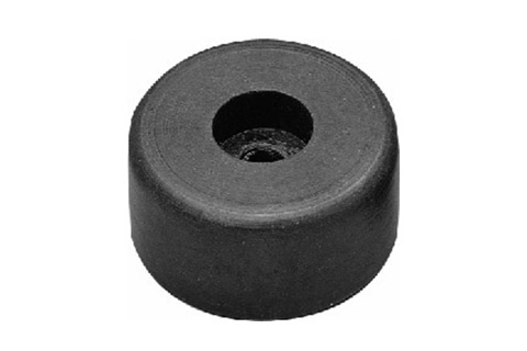 Speaker rubber foot at 20 mm height for heavy units and speaker cabinets with inserted metal disk, 6.2mm hole