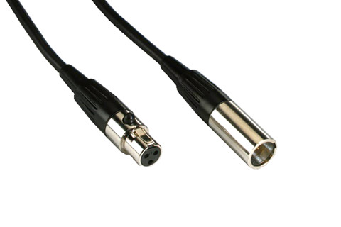 Mini XLR male - Mini XLR female