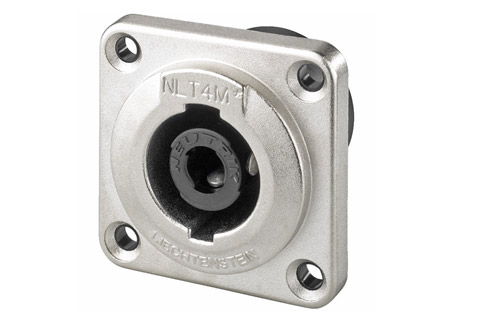 Speakon connector, 4 pole male