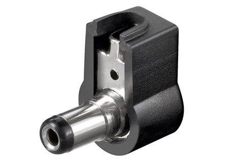 DC plug angled 21 W