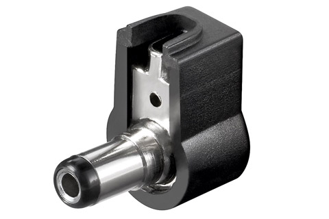 DC plug angled 25 W