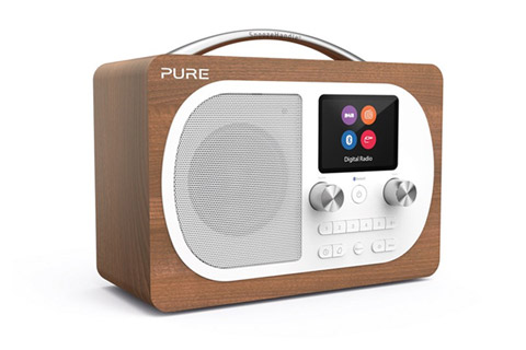 Pure Evoke H4 DAB+ / FM radio, wood veneer, walnut