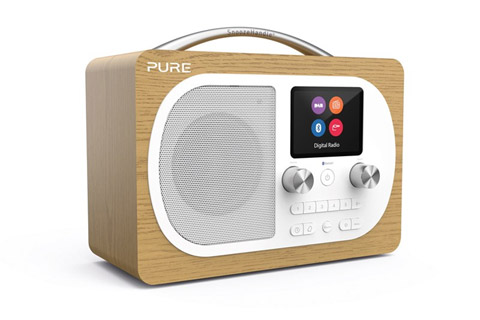 Pure Evoke H4 DAB+ / FM radio, wood veneer, oak