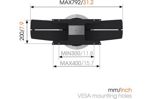 Vogels NEXT 7346 for LG OLED, measures