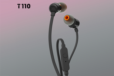 JBL T110 in-ear hovedtelefoner, sort