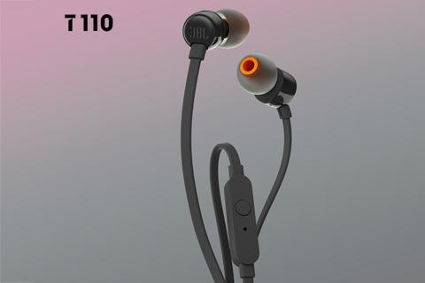 JBL T110 in-ear hovedtelefoner, sort