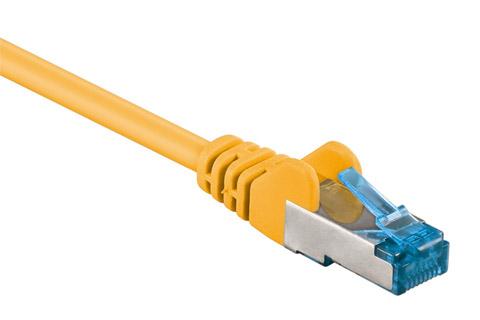 CAT6a S/FTP netværkskabel - Gul