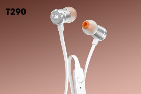 JBL T290 in-ear hovedtelefoner, sølv