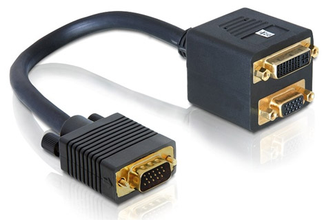 VGA til DVI og VGA splitter