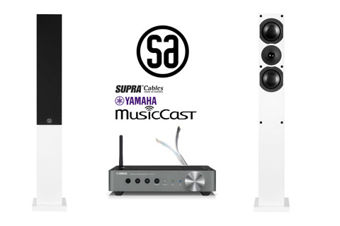 Yamaha MusicCast SA Saxo 40 streaming bundle incl. cables, white satin