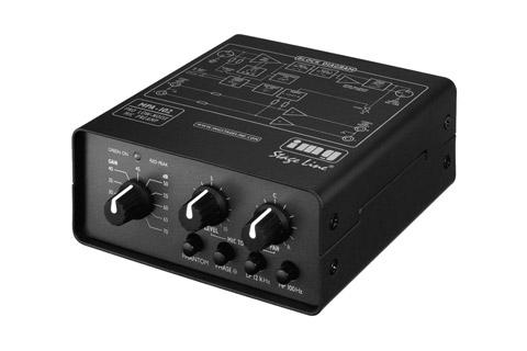 Stageline mikrofonforstærker, front