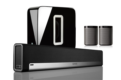 - Sonos PLAYBAR med SUB og PLAY 5.1 system, sort