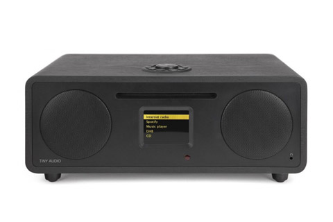 Tiny Audio Wide bordradio, sort